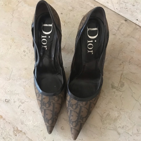 Dior brown heels pumps size 38 size 8